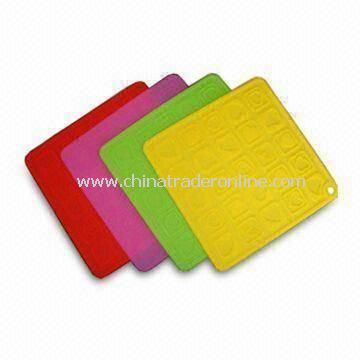 Anti-heat Pot Holder, Various Sizes and Colors Available, Made of Silicone Rubber Material