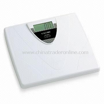 Bathroom Scale with 100g/0.2lb Division and 150kg Capacity, Measures 31 x 29 x 4.39cm