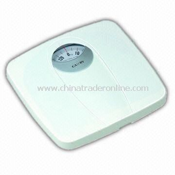 Bathroom Scale with 130kg/300lbs Capacity and 1,000g/2lbs Graduation, Measuring 29.6 x 28.2 x 5.7cm