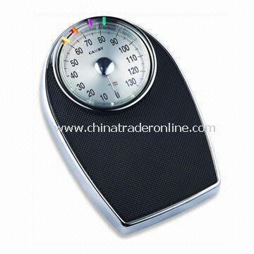 Chrome-plated Bathroom Scale, Measuring 43 x 28.5 x 8.3cm