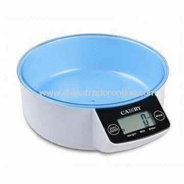 Electronic Kitchen Scale with Touch Button and Colorful Design, Measuring 22.2 x 18.4 x 7.4cm