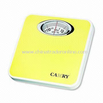 Mechanical Personal Scale with 1,000g/2lbs Graduation, Measures 25.7 x 26.3 x 5cm