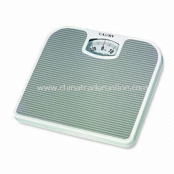 Personal Bathroom Scale, Measures 24.3 x 26.8 x 4.2cm, with 130kg/300lbs Capacity