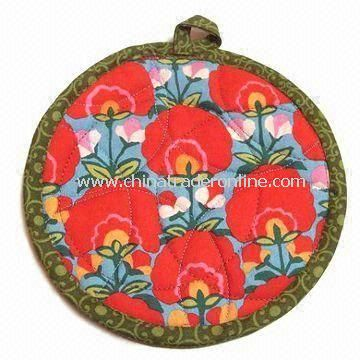 Pot Holder, Made of 100% Cotton, Customers Sizes are Accepted, Suitable for Promotional Purposes