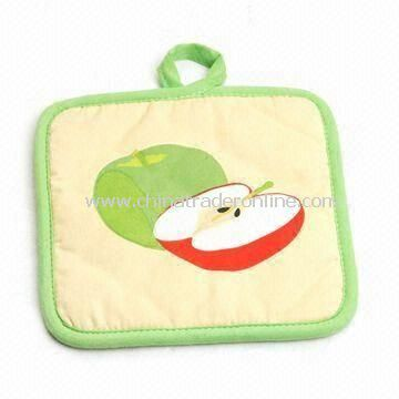 Pot Holder, Made of 100% Cotton, Customized Designs, Colors and Sizes are Accepted
