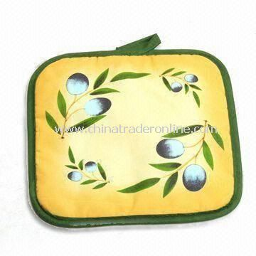 Pot Holder, Made of 100% Cotton, Customized Logos are Accepted