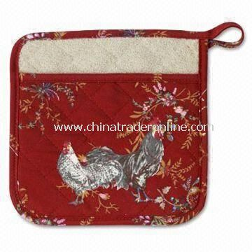 Pot Holder, Made of 100% Cotton, Customized Sizes and Logo Printings are Accepted