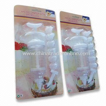 Cake Decorating Kit, Made of PP and Acrylic, Measures 17.5 x 4.8 x 4.2cm