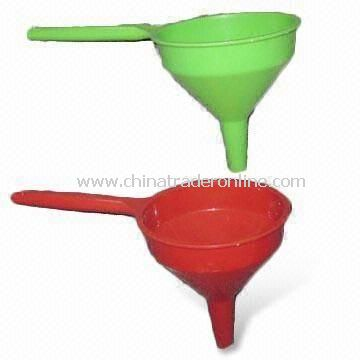 Funnels, Available in Assorted Colors, Made of Plastic