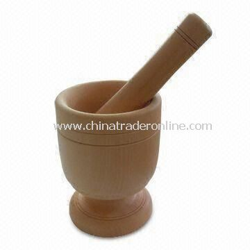 Mortar and Pestle, Made of Lotus Wood, Herb and Spice Tools, OEM Orders are Welcome