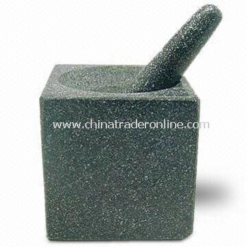 Mortar with 4 x 16.5 x 2cm Stick, Made of Granite