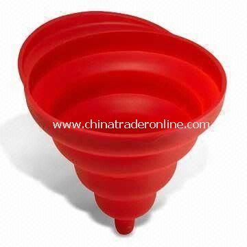 Silicone Folding Funnel Strainer, Foldable, Measures 17cm