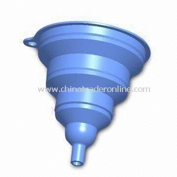 Silicone Funnel with Nonstick Finish, Customized Designs are Welcome