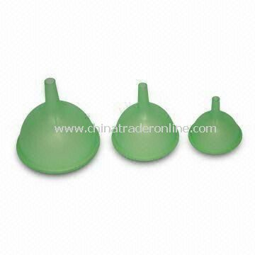 Silicone Funnels/Foldable Funnels, Made of 100% Food-grade Silicone, Any Colors Available