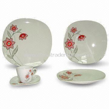 30-piece Porcelain Dinner Set, Includes Cup and Saucer