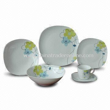 30 Pieces Porcelain Dinner Set with Decal, Available in Various Sizes
