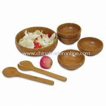 7-piece Salad Set, Includes Bowls, Hands and Server