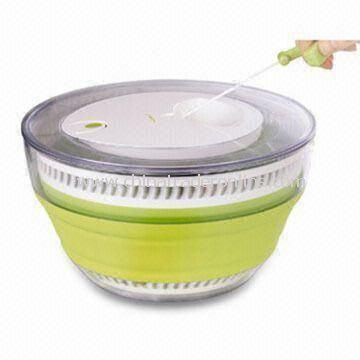 Collapsible Salad Spinner, Available in Unique Design, Easy to Store