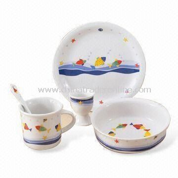 Dinnerware Set, Made of Porcelain, Suitable for Children