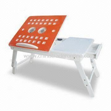 Laptop Stand, 2-piece Fan with Excellent Heat Elimination Function, Measures 56 x 35 x 20 to 132cm