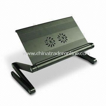 Laptop Stand with 2 Fans and Adjustable Height, Made of Aluminum Alloy