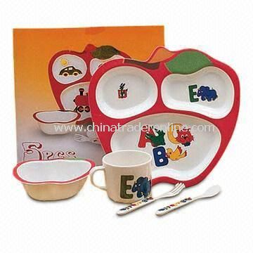 Melamine Childrens Lunch Set with Cartoon Design