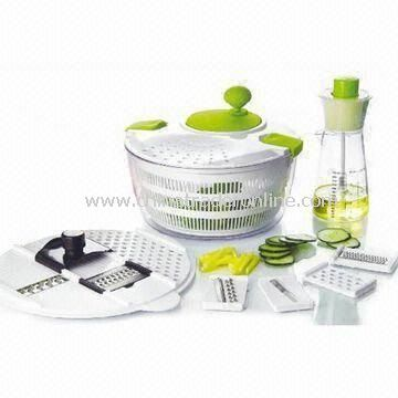 Multifunctional Salad Spinners and Mixer, Made of PP, PS, PC or ABS from China