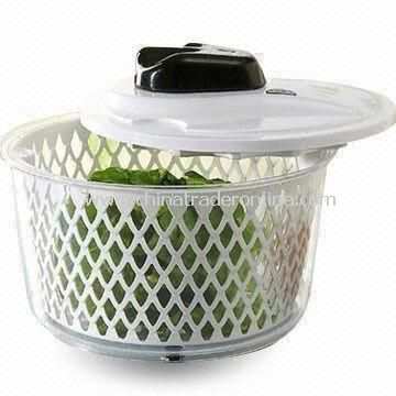 Salad Spinner, Measures Ø20.7 x 16cm, Made of PP and PS from China