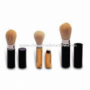 Retractable Powder Brushes, Available in Various Sizes, OEM and ODM Orders are Welcome