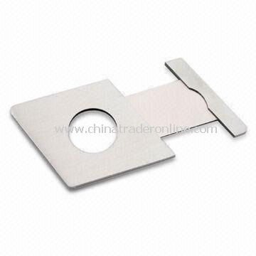 Stainless Steel Cigar Cutter with 8.2 x 6.0cm Closed Size