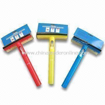 Window Spray Brushes with 8 inches Squeegee, Made of PP, Rubber and Sponge