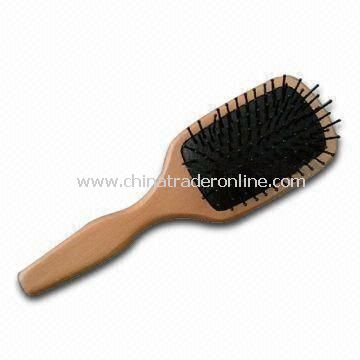 Wooden Paddle Hair Brush with Good Design, Suitable for Beauty Salons or Home Use