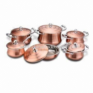 12-piece Stainless Steel Cookware Set, Packing Sized 58.5 x 32.5 x 57cm