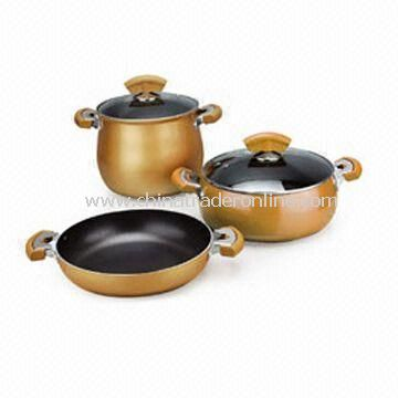 5-piece Aluminium Non-stick Cookware Set in Various Color and Sizes