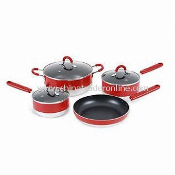 Aluminum Non-stick Cookware Set, Suitable for Gas and Electric, Easy to Clean