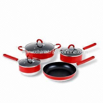 Aluminum Non-stick Cookware Set with Two Layers Non-stick Coating Inside