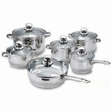 Cookware Set, Non-stick Inner Coating, Healthy, Environmental, Easy for Clean