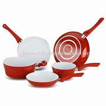 Forged Aluminum Cookware Set with Non-stick Ceramic Coating and Long Lasting Durability