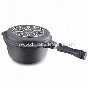 Multi Cookware Pan, Made of Non-stick Aluminum with Stainless Steel Nets Inside