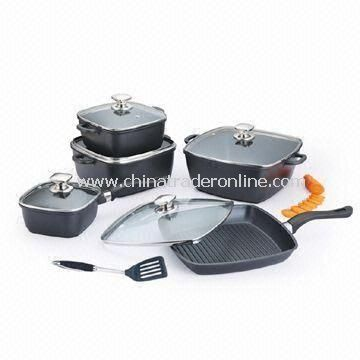 Non-Stick Cookware Set, Easy to Clean, Made of Die-cast Aluminum