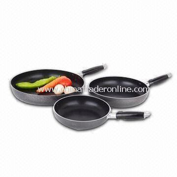 Non-stick Cookware Set with Tempered Glass Lid, Made of Aluminum Alloy