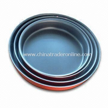 Round Shaped Aluminum Non-stick Cookware Set with Colorful Heat-proof Painting