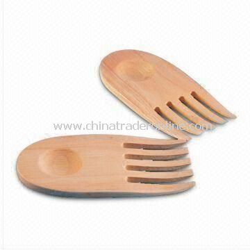 Two-piece Claw-shaped Salad Server, Made of Rubber Wood, Can be Washed by Hand and Air Dry