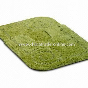 Acrylic Bathroom Rug Set with Two-piece and Latex Backing, Customized Sizes are Accepted