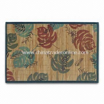 Bamboo Rug, Suitable for Living Rooms and Bedrooms, Customized Sizes and Patterns Accepted from China