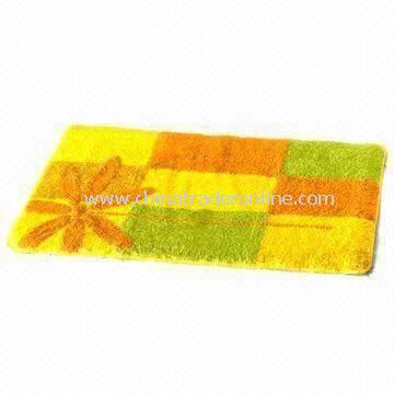 Bathroom Rug with Latex Backing, Made of Polyacrylic, Customized Designs are Welcome