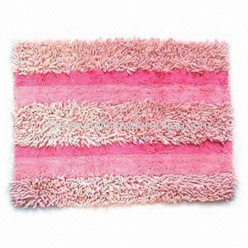 Bathroom Rug with Non-slip Backing, Measuring 45 x 70cm, Customized Designs are Welcome from China