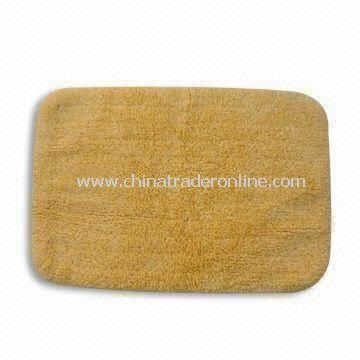 Bathroom Rug with Optional Anti-slip Backing, Made of 90% Cotton and 10% PP Materials