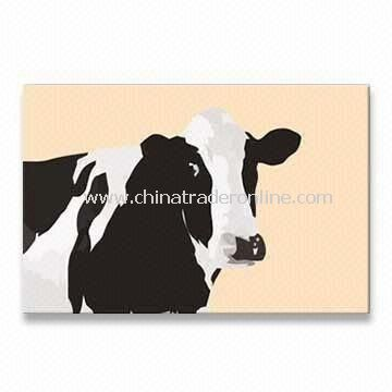 Cow Modern Pop Art with Digital Printing on Polyester Canvas and High Quality Frame