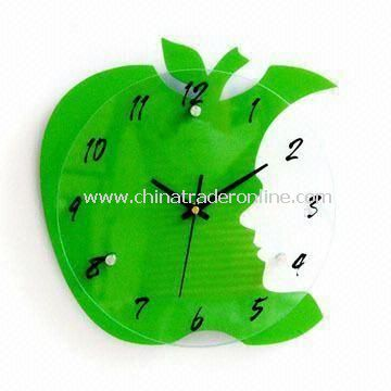 Grand Art Wall Clock, Made of MDF and Glass, Available in Green